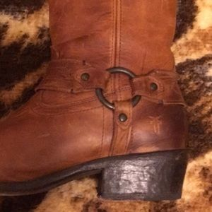 Frye harness brown boots size 9